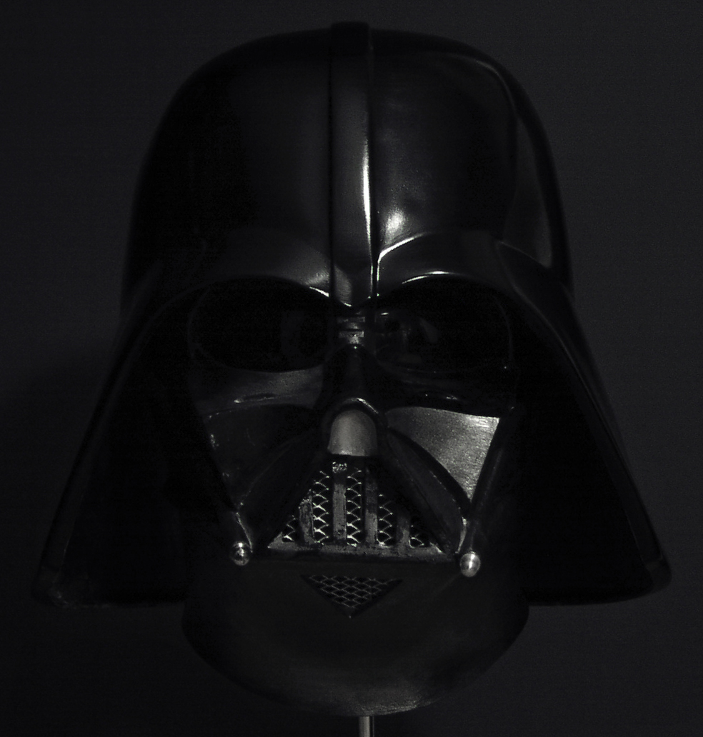 DARTH VADER ANH helmet - cast off original - with vintage 3m tabs!
